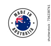 """""""made in australia"""" badge with...   Shutterstock .eps vector #736238761"""