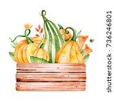 Bright Autumn Illustration Wit...