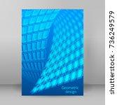 modern geometrical blue... | Shutterstock .eps vector #736249579