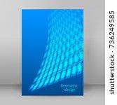 modern geometrical blue... | Shutterstock .eps vector #736249585