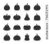 halloween pumpkin black... | Shutterstock .eps vector #736251991