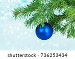 christmas decoration | Shutterstock . vector #736253434