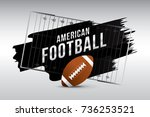 vector of american football... | Shutterstock .eps vector #736253521