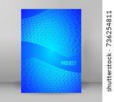 modern geometrical blue... | Shutterstock .eps vector #736254811