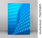 modern geometrical blue... | Shutterstock .eps vector #736254829