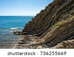 texture edge of the kiselev... | Shutterstock . vector #736255669