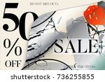 sale advertisement banner on... | Shutterstock .eps vector #736255855