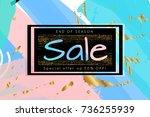gold shiny glitter sale... | Shutterstock .eps vector #736255939