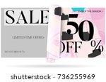 sale advertisement banner on... | Shutterstock .eps vector #736255969
