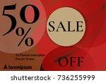 sale advertisement banner with... | Shutterstock .eps vector #736255999
