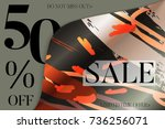 sale advertisement banner on... | Shutterstock .eps vector #736256071