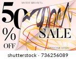 sale advertisement banner on... | Shutterstock .eps vector #736256089