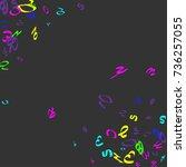 colorful  bright handwritten... | Shutterstock .eps vector #736257055