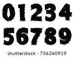 grunge numbers set.vector...   Shutterstock .eps vector #736260919