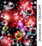 glittery lights abstract... | Shutterstock . vector #736261399