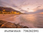 sunset view of the bat galim... | Shutterstock . vector #736262341