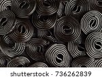 licorice wheels candies. candy... | Shutterstock . vector #736262839