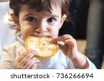 baby child eat carbohydrates    ... | Shutterstock . vector #736266694
