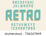 retro font decorative design...   Shutterstock .eps vector #736267849