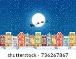 Santa Claus Flies Over A...