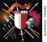 heraldic composition | Shutterstock .eps vector #7362685