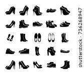 footwear set  | Shutterstock .eps vector #736268947