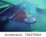 online medical and healthcare... | Shutterstock . vector #736270564