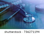 medical examination and... | Shutterstock . vector #736271194