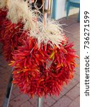 Dried Red Hot Pepper Made Into...