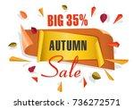 autumn sale background template.... | Shutterstock .eps vector #736272571