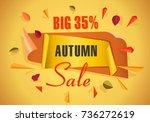 autumn sale background template.... | Shutterstock .eps vector #736272619