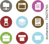 origami corner style icon set   ... | Shutterstock .eps vector #736274761