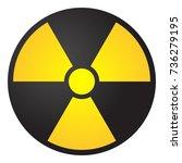 vector illustration toxic sign  ... | Shutterstock .eps vector #736279195
