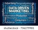 data driven marketing word... | Shutterstock . vector #736279981