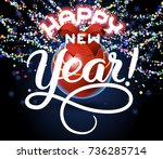 happy new year lettering... | Shutterstock .eps vector #736285714