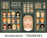 woman character constructor.... | Shutterstock .eps vector #736286581