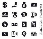 16 vector icon set   dollar ... | Shutterstock .eps vector #736287934