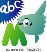 animal alphabet  m is for mola... | Shutterstock .eps vector #73628794