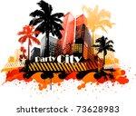 summer beach concept downtown... | Shutterstock .eps vector #73628983