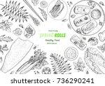 asian food menu design template.... | Shutterstock .eps vector #736290241