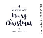christmas text greeting... | Shutterstock .eps vector #736291381