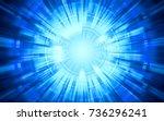 abstract technology warp... | Shutterstock . vector #736296241