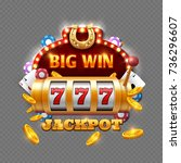 big win lottery casino isolated ... | Shutterstock .eps vector #736296607