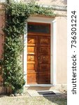 green entrance | Shutterstock . vector #736301224