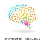 digital concept of colorful... | Shutterstock .eps vector #736303579
