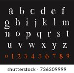 chalk letter design. vector... | Shutterstock .eps vector #736309999