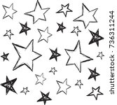 handdrawn stars background.... | Shutterstock .eps vector #736311244