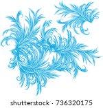 intricate frost work   frosty... | Shutterstock .eps vector #736320175