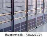 network server room with... | Shutterstock . vector #736321729