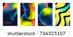 liquid color covers set. fluid... | Shutterstock .eps vector #736325107